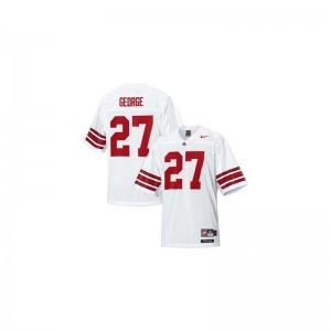 Eddie George OSU Football Mens Game Jersey - #27 White