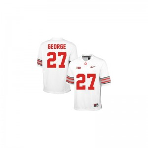 Eddie George Ohio State Player For Men Limited Jerseys - #27 White Diamond Quest Patch