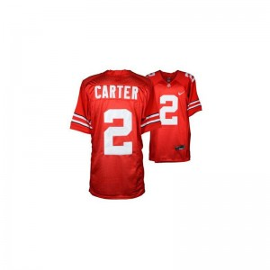 Cris Carter OSU Buckeyes Official Mens Game Jerseys - #2 Red
