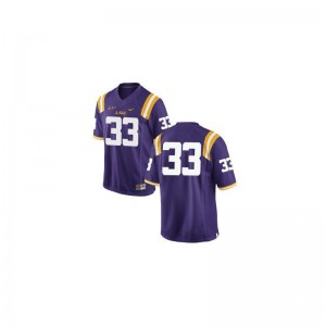 Jeremy Hill Tigers NCAA Mens Game Jersey - #33 Purple