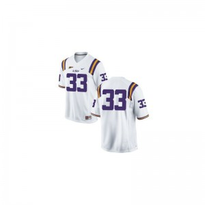 Jeremy Hill Tigers Official Men Game Jerseys - #33 White