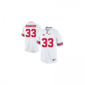Pete Johnson Ohio State Buckeyes Official Men Game Jerseys - #33 White