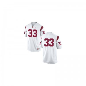 Marcus Allen Trojans High School For Men Game Jerseys - #33 White