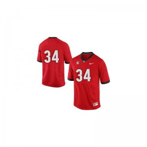 Herschel Walker UGA University Men Game Jerseys - #34 Red