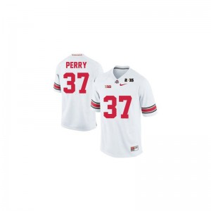 Joshua Perry Ohio State High School Men Game Jersey - #37 White Diamond Quest 2015 Patch