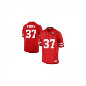 Joshua Perry Ohio State Buckeyes Player Mens Limited Jerseys - #37 Red Diamond Quest 2015 Patch