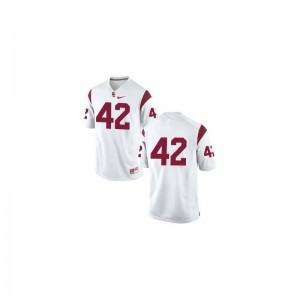 Ronnie Lott Trojans High School For Men Limited Jersey - #42 White