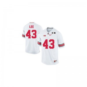 Darron Lee Ohio State Buckeyes University Mens Limited Jersey - #43 White Diamond Quest 2015 Patch