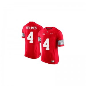 Santonio Holmes Ohio State Buckeyes College Mens Limited Jersey - #4 Red Diamond Quest Patch