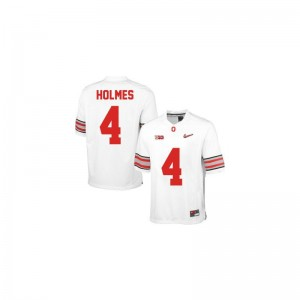Santonio Holmes OSU Buckeyes Official For Men Limited Jersey - #4 White Diamond Quest Patch