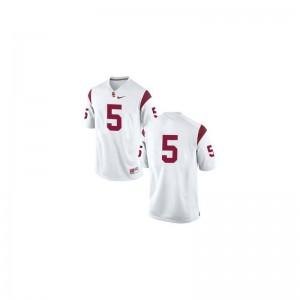 Reggie Bush USC NCAA Mens Game Jerseys - #5 White