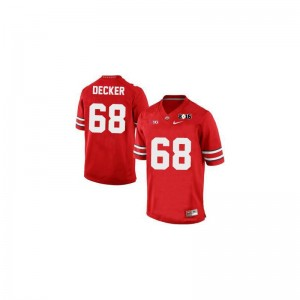 Taylor Decker OSU NCAA Mens Game Jerseys - #68 Red Diamond Quest 2015 Patch