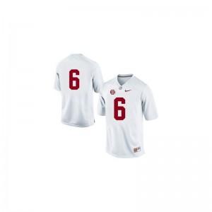 Blake Sims Alabama Official Mens Game Jerseys - #6 White