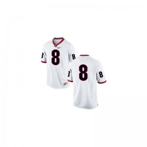 A.J. Green Georgia Bulldogs College Men Game Jersey - #8 White