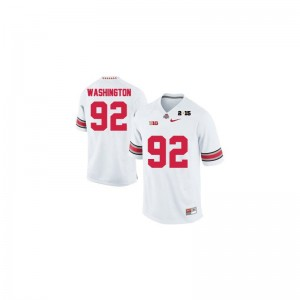 Adolphus Washington OSU High School Men Game Jersey - #92 White Diamond Quest 2015 Patch