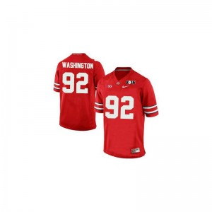 Adolphus Washington Ohio State Buckeyes Official Men Limited Jerseys - #92 Red Diamond Quest 2015 Patch