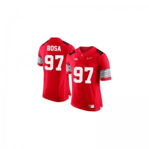 Joey Bosa Ohio State Alumni For Men Game Jerseys - #97 Red Diamond Quest Patch