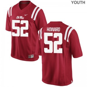 Michael Howard Ole Miss High School Youth(Kids) Limited Jersey - Red