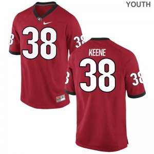 Michael Keene University of Georgia University Youth(Kids) Game Jersey - Red