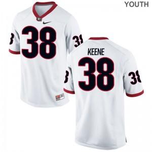 Michael Keene Georgia Bulldogs University Youth(Kids) Limited Jerseys - White