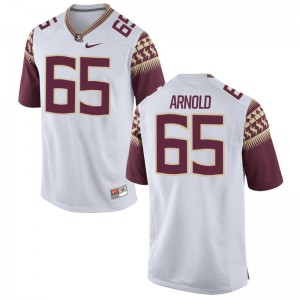 Mike Arnold FSU Seminoles Football Mens Game Jersey - White