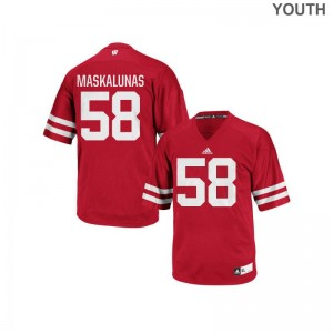 Mike Maskalunas Wisconsin Badgers College For Kids Replica Jerseys - Red