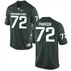 Mike Panasiuk MSU Football Men Game Jerseys - Green
