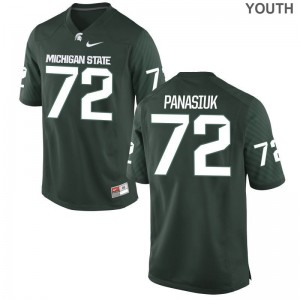 Mike Panasiuk Michigan State University Official For Kids Game Jerseys - Green