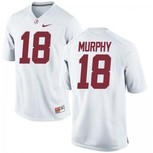 Montana Murphy University of Alabama High School For Men Game Jerseys - White