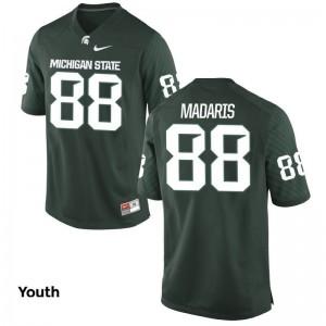 Monty Madaris Michigan State Official Kids Game Jersey - Green