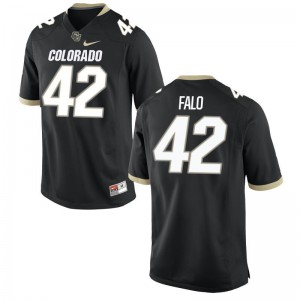 N.J. Falo Buffaloes College Mens Game Jersey - Black