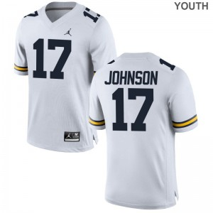 Nate Johnson Michigan University Youth Game Jersey - Jordan White