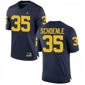 Nate Schoenle University of Michigan Alumni For Men Game Jersey - Jordan Navy