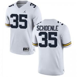 Nate Schoenle Michigan Alumni Youth(Kids) Game Jersey - Jordan White