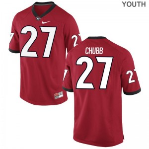Nick Chubb Georgia High School Youth Game Jersey - Red