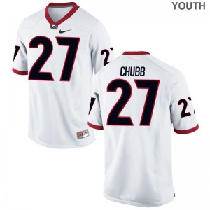 Nick Chubb Georgia Bulldogs Alumni Youth(Kids) Game Jersey - White