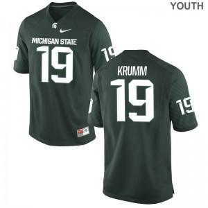Nick Krumm Michigan State University NCAA For Kids Limited Jerseys - Green