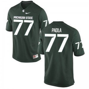 Nick Padla Michigan State University Official Mens Game Jersey - Green
