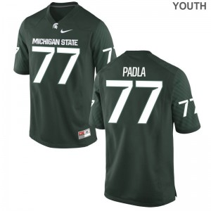 Nick Padla Michigan State Spartans Football Youth(Kids) Game Jersey - Green