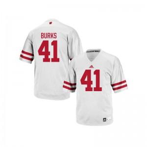 Noah Burks Wisconsin Badgers University For Men Authentic Jerseys - White