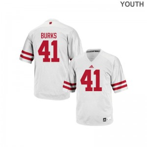 Noah Burks Wisconsin Badgers Official For Kids Replica Jersey - White