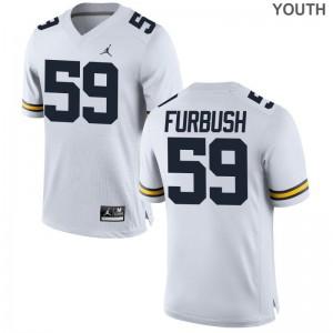Noah Furbush Michigan College Youth(Kids) Game Jerseys - Jordan White