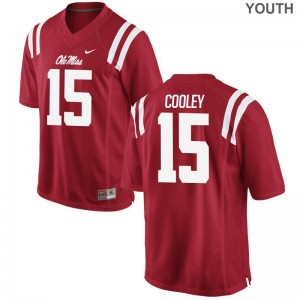 Octavious Cooley Rebels College Youth(Kids) Game Jerseys - Red