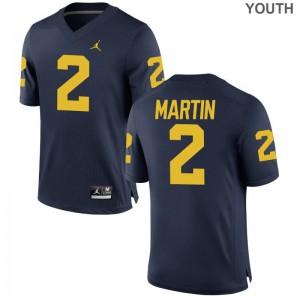 Oliver Martin University of Michigan Alumni Youth(Kids) Game Jerseys - Jordan Navy
