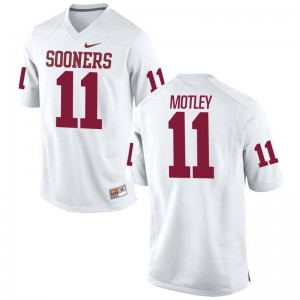 Parnell Motley Oklahoma NCAA For Men Limited Jerseys - White