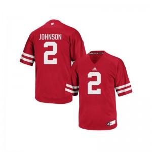 Patrick Johnson University of Wisconsin University Mens Authentic Jerseys - Red