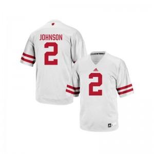 Patrick Johnson Wisconsin Football Mens Replica Jerseys - White