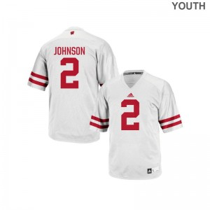Patrick Johnson Wisconsin Badgers High School Youth(Kids) Authentic Jerseys - White
