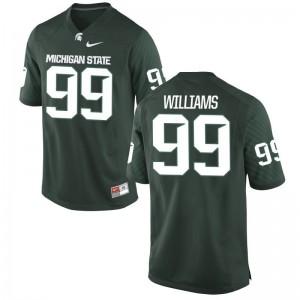Raequan Williams Michigan State University Official Men Game Jersey - Green