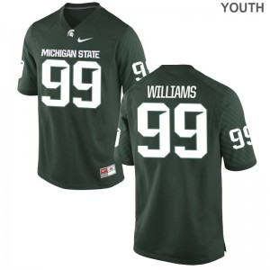 Raequan Williams Michigan State Spartans Official Youth Limited Jersey - Green